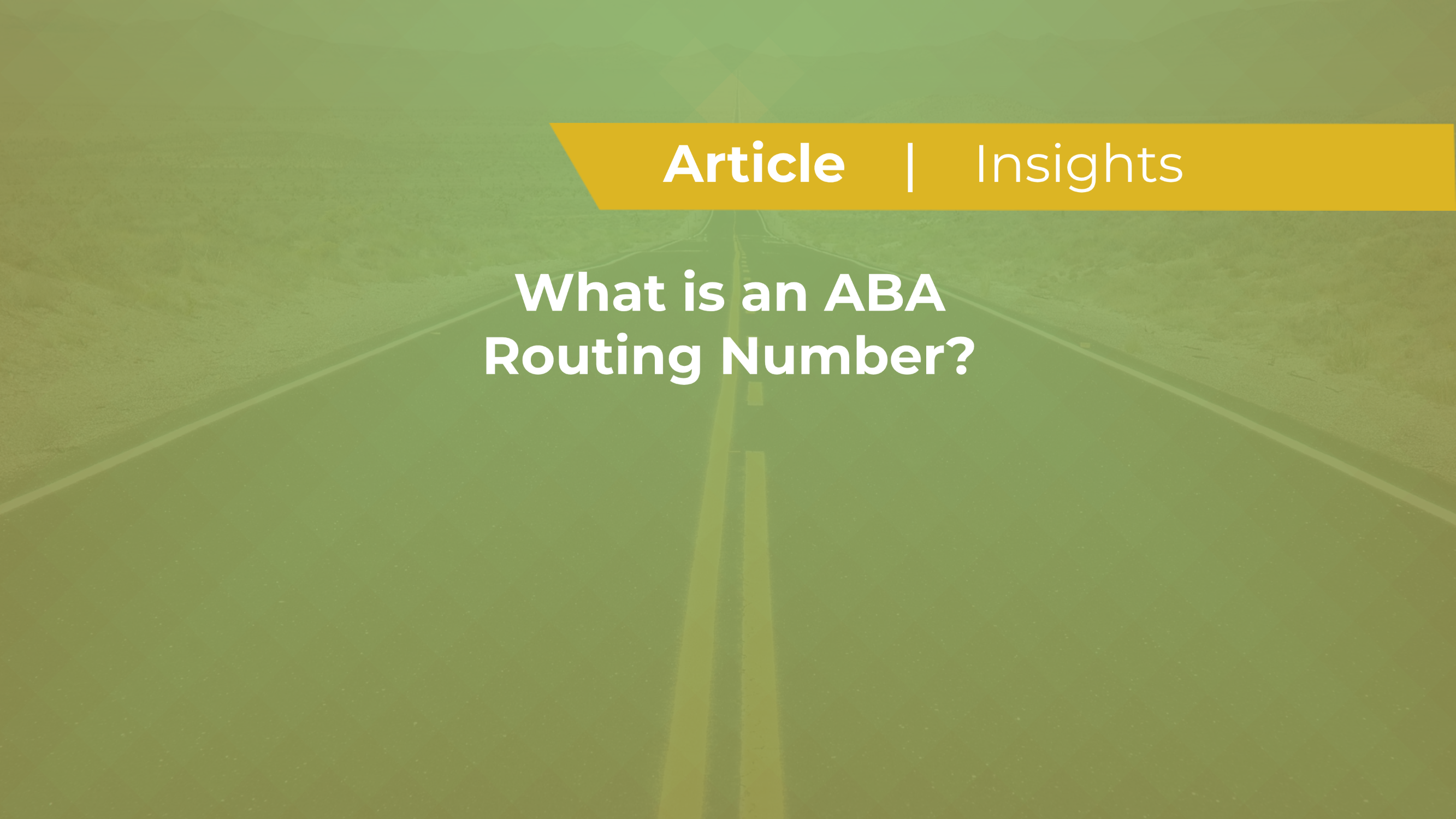 What is an ABA Routing Number