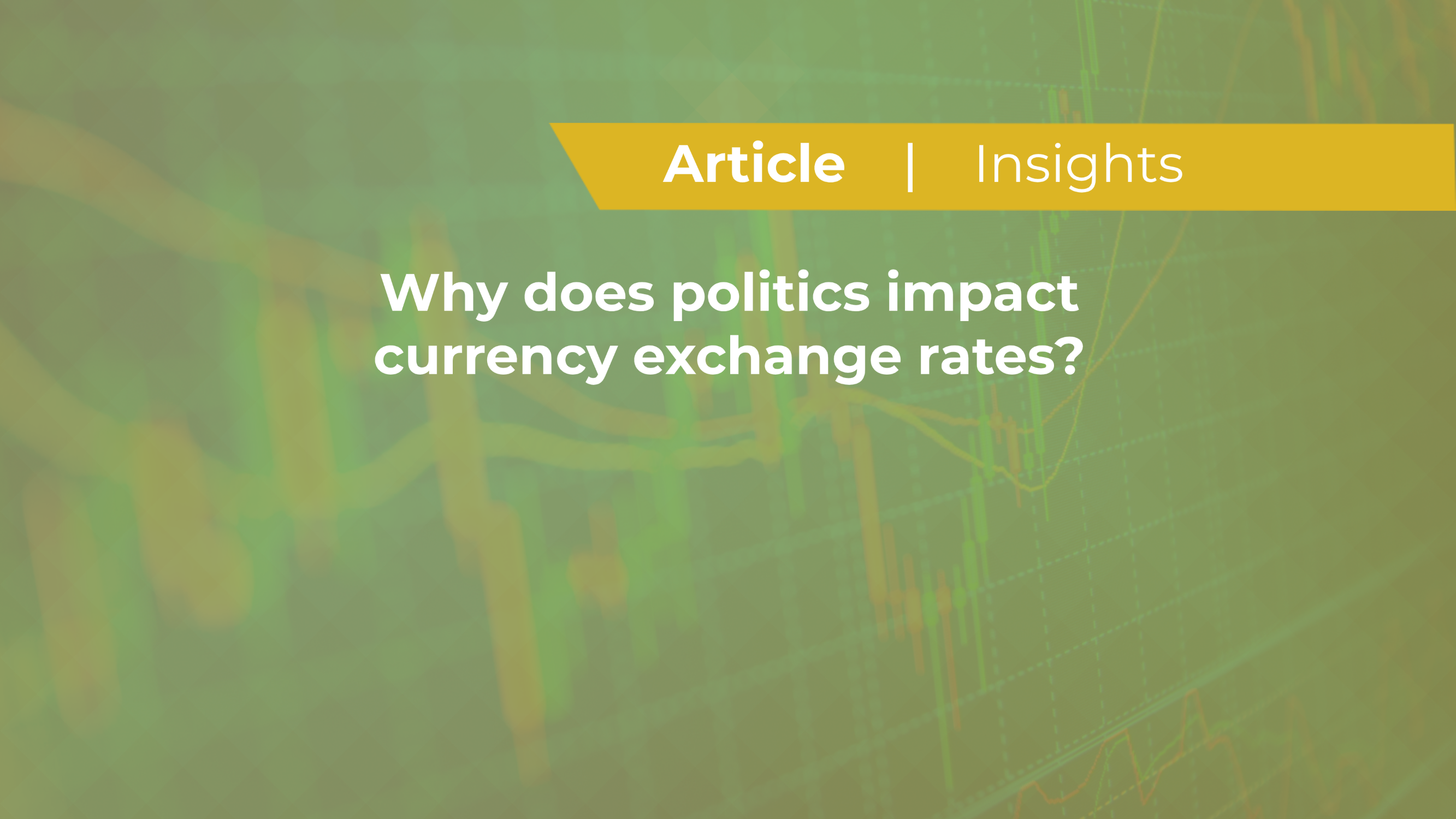 Why Does Politics Impact Currency Exchange Rates